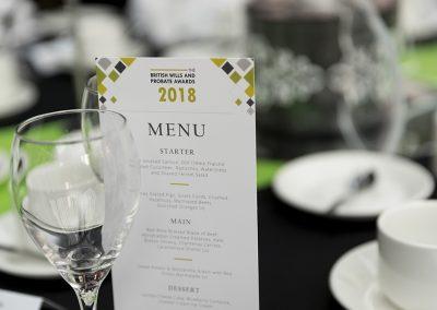 The British Wills & Probate Awards Menu